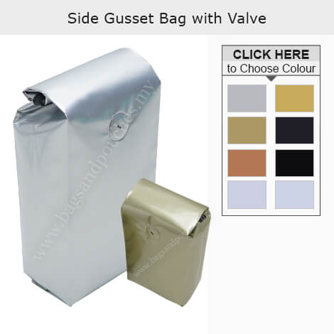 Side Gusset Bag With Valve